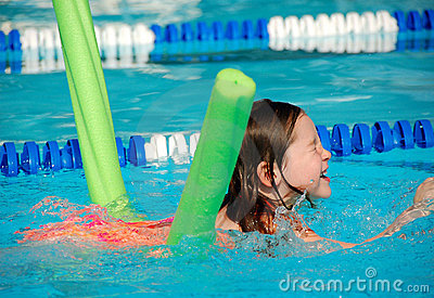 Young Girl at Swimming Lesson