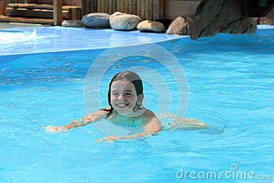 Happy Girl swimming