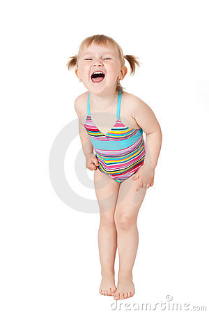 Young girl in swimsuits