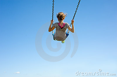 Young Girl on Swing