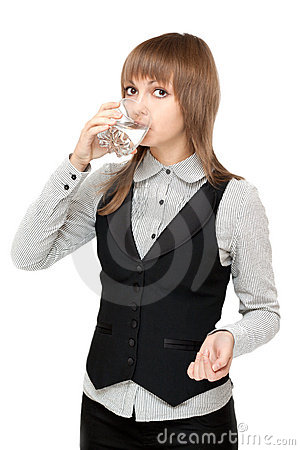 Young girl to drink water