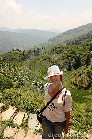 Young girl travelling in Asia