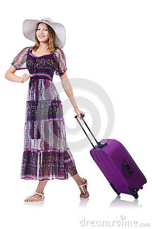 Young girl travelling