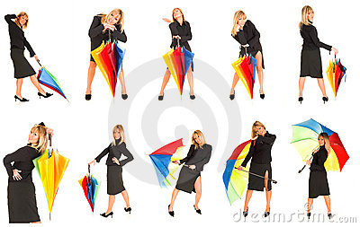 Young Girl With Umbrella Stock Images - Image: 2412894
