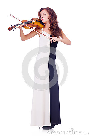 Young girl with violin