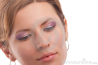 Young girl with vivid makeup