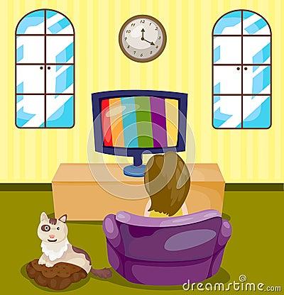 cartoon retro tv royalty free stock photography image