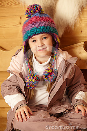 Young Girl Wearing Warm Outdoor Clothes