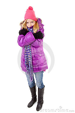 Young girl in winter outfit