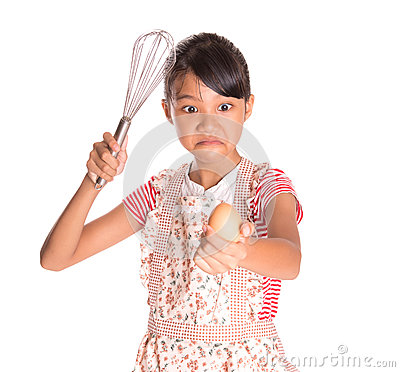 Free Young Girl With Egg And Egg Beater II Stock Photos - 40375373