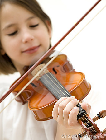 Free Young Girl With Violin Stock Photo - 6966010