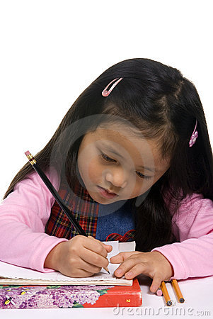 Young Girl Writing 3