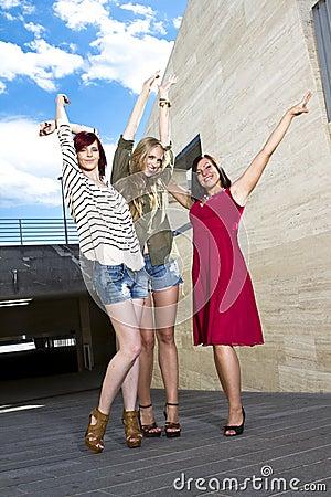 Young girls having fun Stock Photo