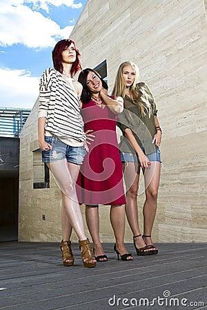 Young girls posing Stock Photo