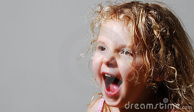 Young girls screaming
