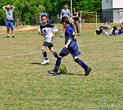 Free Young Girls Soccer Stock Image - 13907621