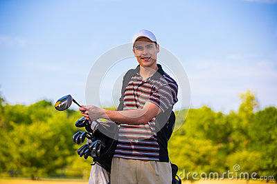 Young Golfer in Early Morning