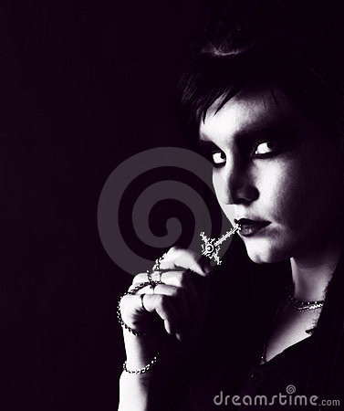 Free Young Gothic Woman Royalty Free Stock Photo - 23782325
