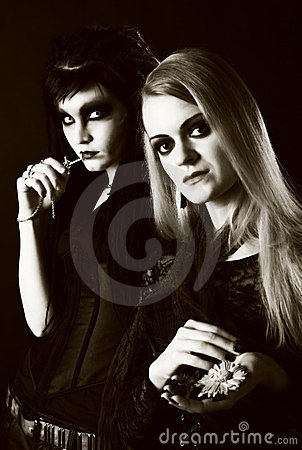 Free Young Gothic Women Stock Photography - 23783092