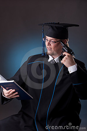 Young graduation man