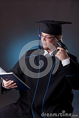 Young graduation man