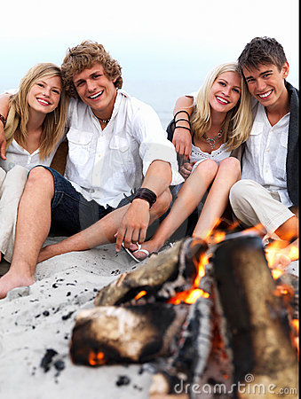 Young Group Of People At The Beach Having Fun Stock Photography - Image: 5565122