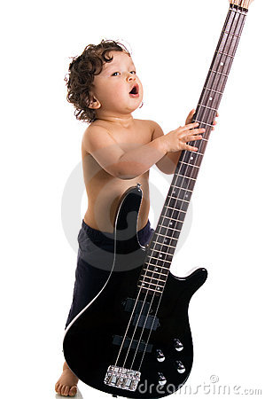 The young guitarist.