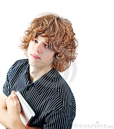 Young guy with a curly hair