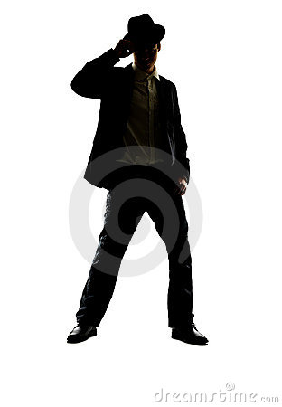 Young guy posing on white background