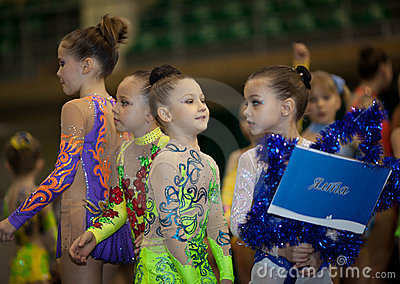 Young gymnasts - contestants Editorial Photo