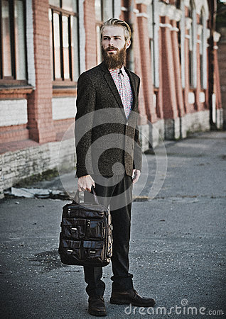 Free Young Handsome Attractive Bearded Model Man Royalty Free Stock Images - 64691369