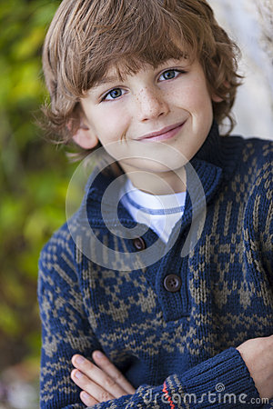 Free Young Happy Boy Smiling Stock Photography - 47158802