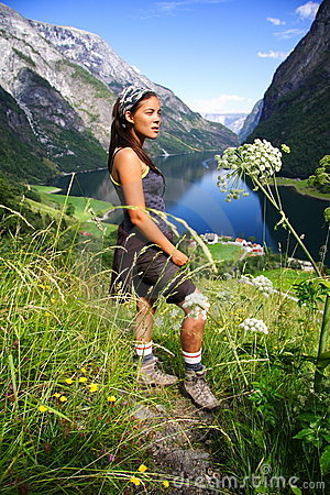 Young Happy Hiker norway