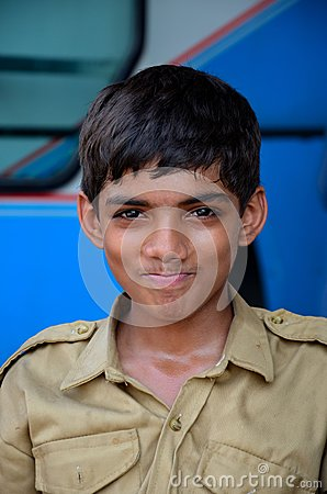 Young, happy Pakistani boy scout Editorial Photography
