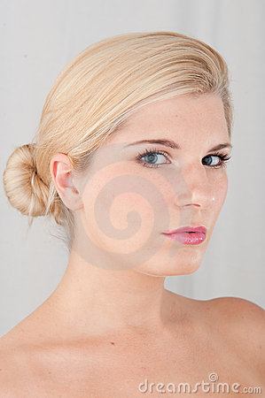 Young healthy woman with pure skin