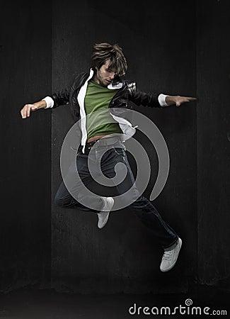 young hip-hop dancer