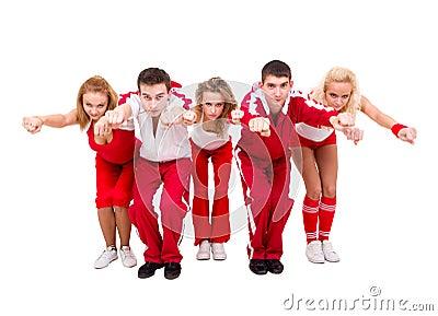 Young hip hop dancers dancing