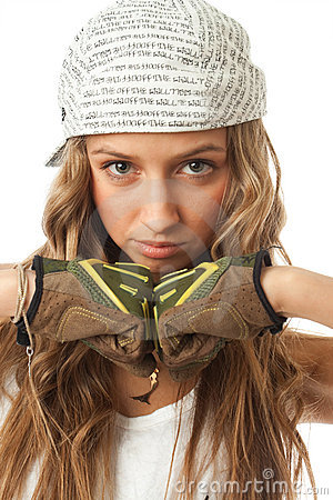 The young hip-hop girl