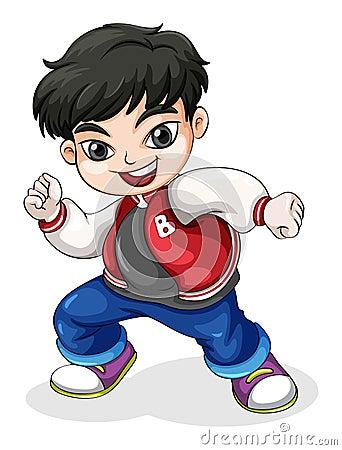 A young hiphop dancer Vector Illustration