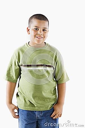Young hispanic boy