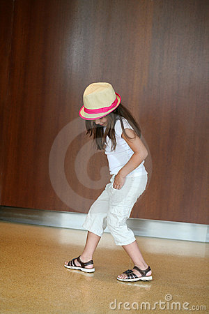 Young hispanic girl dancing