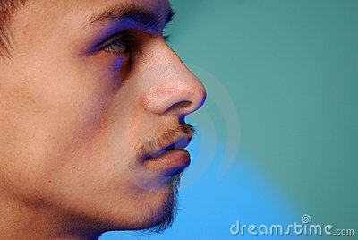 Young hispanic male profile