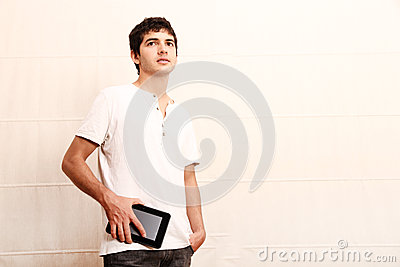 Young man with aTablet PC