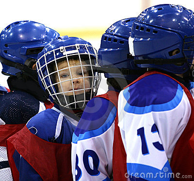 Free Young Hockey Player Royalty Free Stock Photo - 1076965