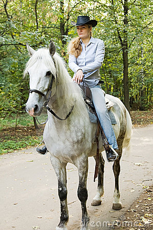Young horsewoman