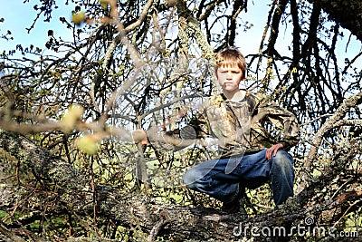 Young Hunter Hiding