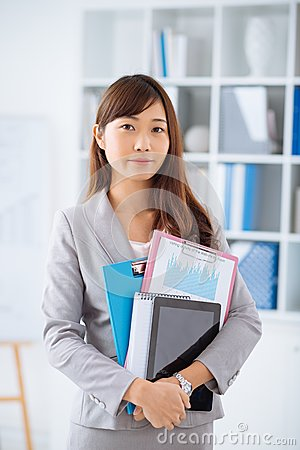 Free Young Japanese Business Woman Royalty Free Stock Photo - 52729145