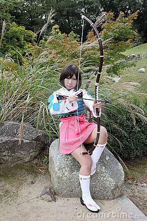 Young japanese cosplayer Editorial Photo