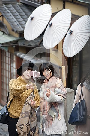 Free Young Japanese Girls Taking A Selfie Royalty Free Stock Photo - 108605365
