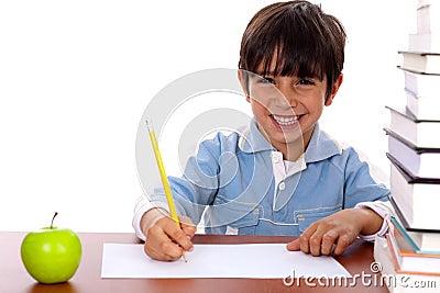 Young kid enjoying art